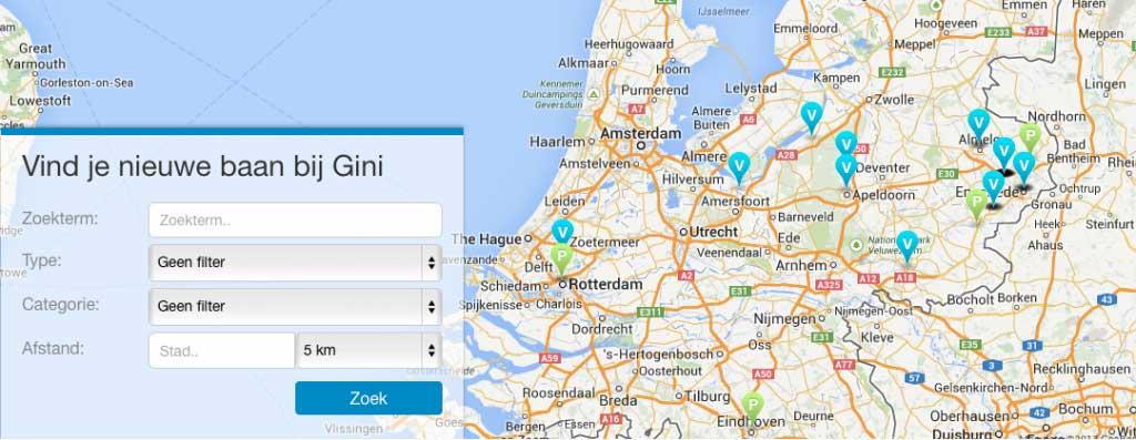 Gini Recruit - Google Map - Plugin