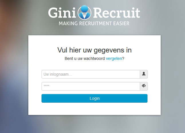 Gini Recruit Portal